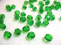 Бусины хрустальные зеленые 10 мм (искусственные)