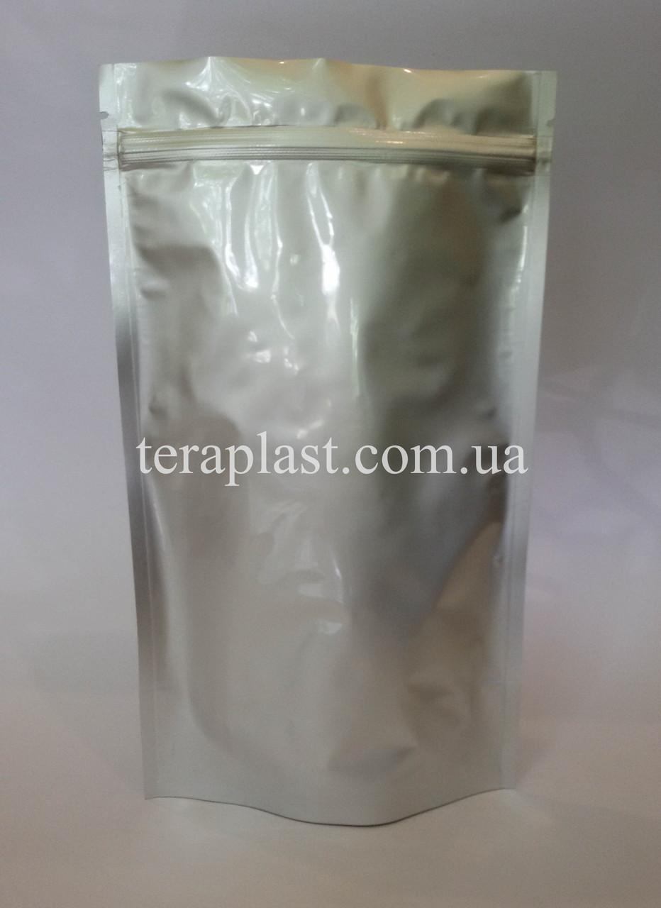 Дой-Пак 1кг серебро 210х380 с зип замком