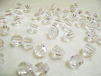 Бусины хрустальные прозрачные 10 мм (искусственные)