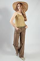 Брюки женские  летние из натуральной льняной и хлопковой ткани  Camaieu