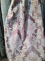 Портьера Людовик Королевская лилия Сложно розовый(фрезовый)