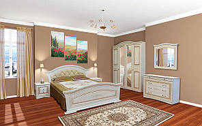 Спальня в класичному стилі Ніколь (біле дерево \ патина)