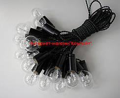 Ретро гирлянда из ламп накаливания 15 метров 26 прозрачных ламп 25Вт +3 метра доп.кабель