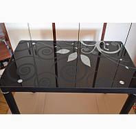 Стол стеклянный Damar 80x60 Черный