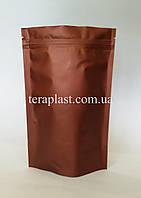 Дой-Пак 500г коричневый 180х280 с зип замком