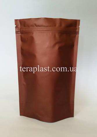 Дой-Пак 500г коричневый 180х280 с зип замком, фото 2