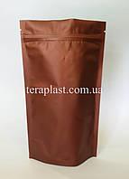 Дой-Пак 1 кг коричневый 210х380 с зип замком