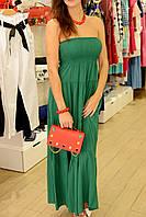Женское платье летнее длинное в цветах брендовое Италия