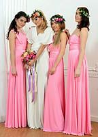 Вечернее платье трансформер нежно розовое