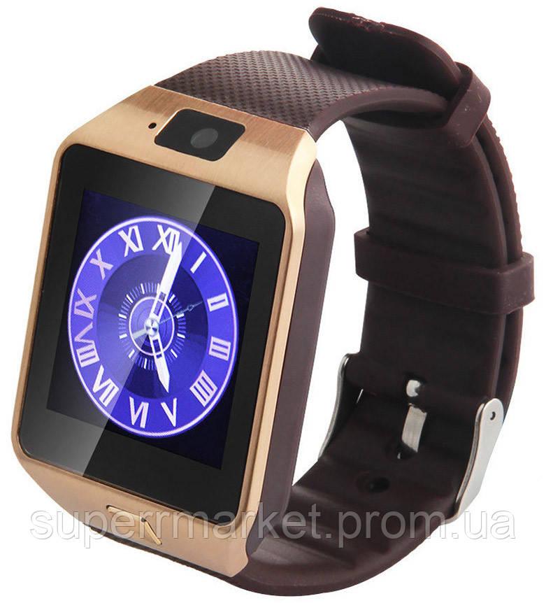 Смарт часы - GSM телефон DZ09 Gold