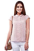 Блуза женская GIOIA со складами розовая
