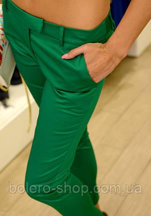 Брендовые женские брюки летние  зеленые  Италия , фото 2