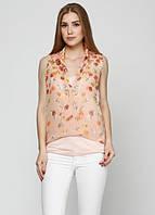 8044 Блуза летняя персиковая: imprezz.com.ua