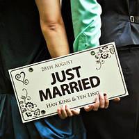 Свадебные таблички из композита декорации