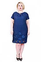 Женское летнее платье из батиста-большие размеры