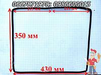 Уплотнение дверей духовки Гефест 60см, 430X350 мм (43X35 см), толщина 10 мм с сплошным креплением, квадратная