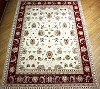 Пакистанский шерстяной ковер ручной работы(Пенджаб),кремовый