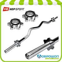Гриф W-образный Hop-Sport 120см (25мм), фото 1