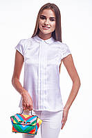 Блуза женская GIOIA со складами белая