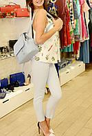 Женские штаны брюки летние  голубые