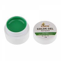 Цветная гель краска coco 158 зеленая