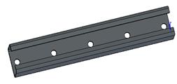 Перекладина лотка лестничного перфорированная 400 SCaT