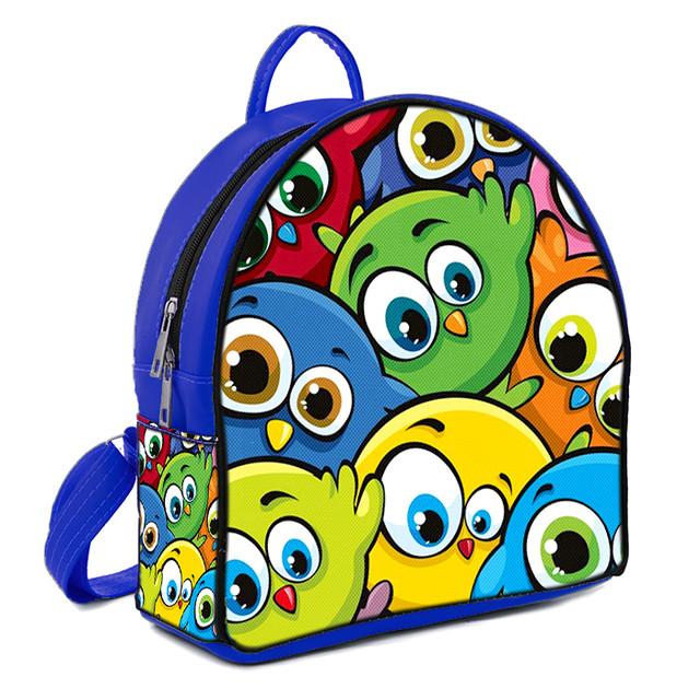 Синий городской рюкзак с принтом Смешарики