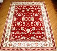 Пакистанский шерстяной ковер ручной работы(Пенджаб),красный