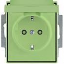 Розетка с заземляющими контактами со шторкой и крышкой АВВ Element Агава (5518E-A03499 22)