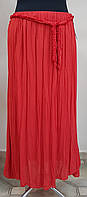 Длинная хлопковая юбка с поясом (Италия)