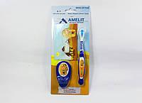 Детская зубная щетка 3-7 лет (Thienel Dental), синяя, с песочными часами, 1 шт.