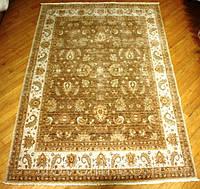 Пакистанский шерстяной ковер ручной работы(Пенджаб),коричневый
