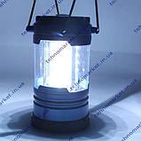Кемпинговый туристический фонарь лампа с регулятором яркости и компасом., фото 3