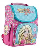 """Рюкзак школьный каркасный """"1 вересня"""" H-11 Barbie mint"""