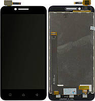 Дисплей (экран) для телефона Lenovo Vibe C A2020 + Touchscreen Original Black