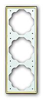 Рамка 3 поста вертикальная ABB Impuls Золото (1723-73)