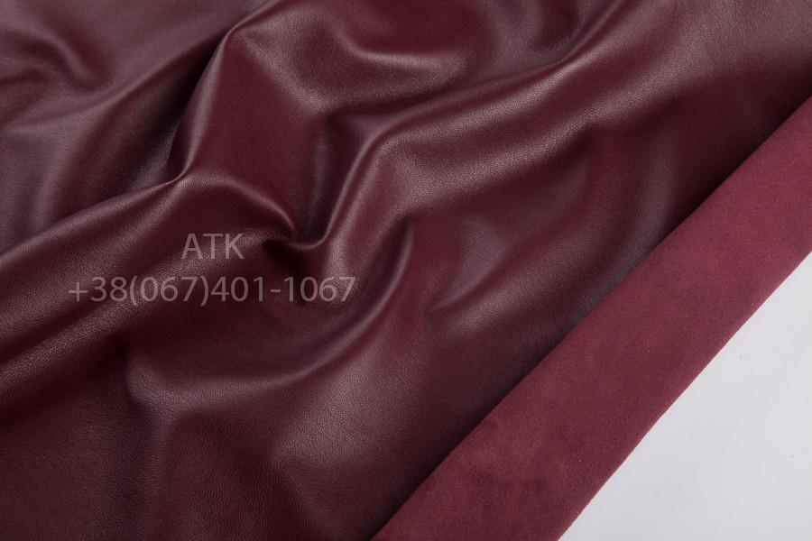 Кожа одежная наппа винно-бордовая