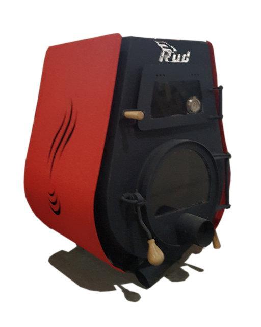 Отопительная конвекционная печь Rud Pyrotron Кантри 01 с духовкой и варочной поверхностью Обшивка декоративная (красная)