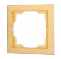 Рамка 1 пост ABB Neo Белый/Оранжевый Лёд (3901M-A00110 43)