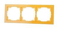 Рамка 3 поста горизонтальная ABB Neo Белый/Оранжевый Лёд (3901M-A00130 43)
