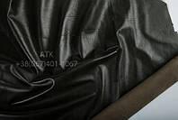 Кожа одежная наппа черно-оливковый 05-0043