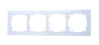 Рамка 4 поста горизонтальная ABB Neo Белый/Белый Лёд (3901M-A00140 01)