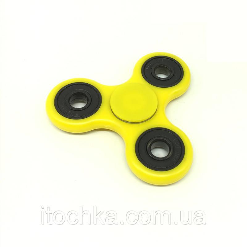 Спиннер (spinner) Tri Fidget Желтый