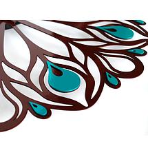 Настенные Часы Glozis Peacock Feather B-015, фото 2