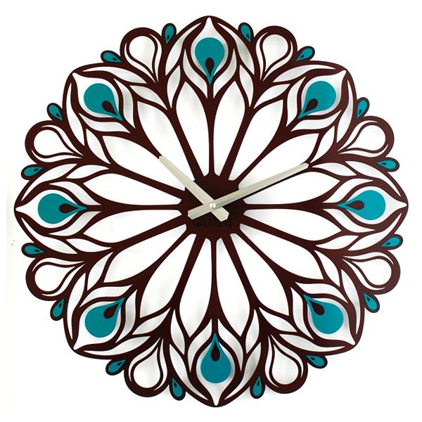 Настенные Часы Glozis Peacock Feather B-015