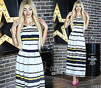 Платье женское шифоновое в полоску