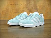 Женские кроссовки Adidas Gazelle (blue) 36 (реплика)
