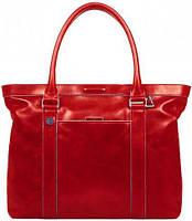 Женская стильная кожаная сумка Piquadro SQUARE/Red, BD3145B2_R красный