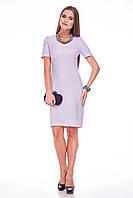 Платье женское GIOIA с фигурным подрезом сиреневое