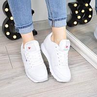 Кроссовки женские Reebok Classik белые кожа 3413, обувь